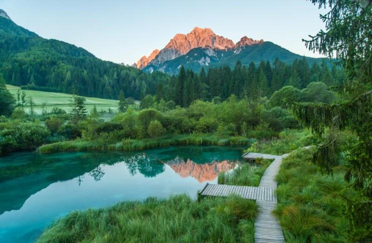 zelenci slovenia 148360040 740x484 - Itinerario in moto tra le Alpi di Italia, Slovenia ed Austria