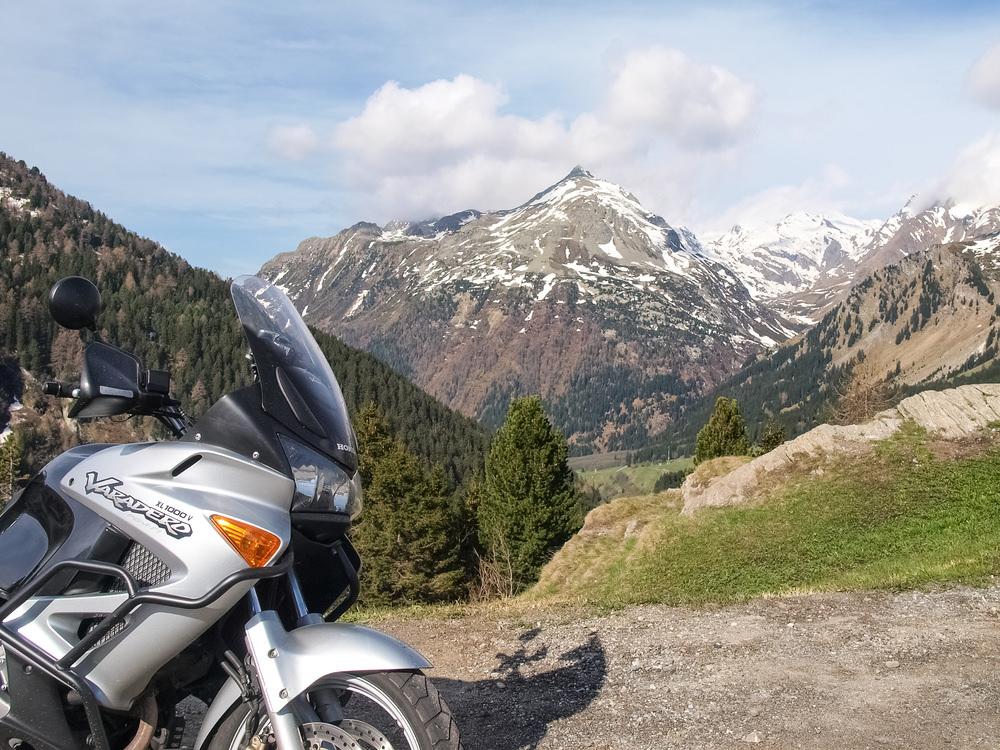 Passo Maloja in moto