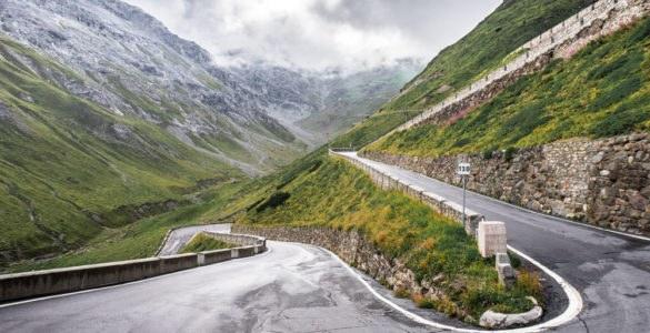 stelvio road, curve