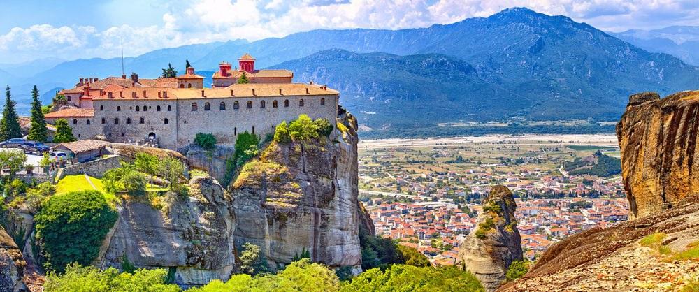 Kalambaka, moto vacanze in Grecia
