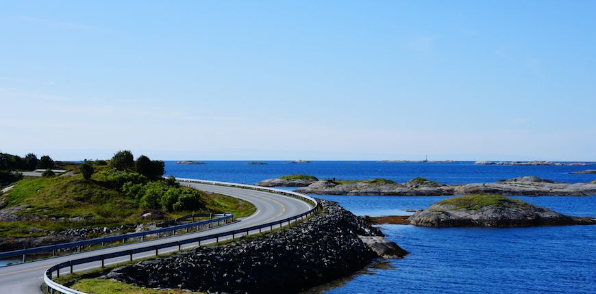 Viaggio in moto in Scandinavia: l'Atlantic Ocean Road