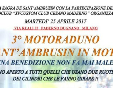 eventi motoraduni lombardia santambrusin in moto 3 385x300 - 3° Motoraduno Sant'Ambrusin in moto - Paderno Dugnano (MI), 25 aprile