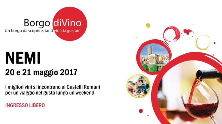 borgodivino17fb 740x416 - Borgo diVino - Nemi (Roma), 20 e 21 maggio 2017