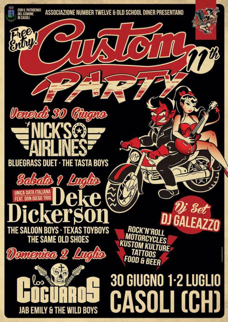 Locandina Custom 768x1084 - Arriva il Custom Party, nove live bands e tanto rock'n'roll