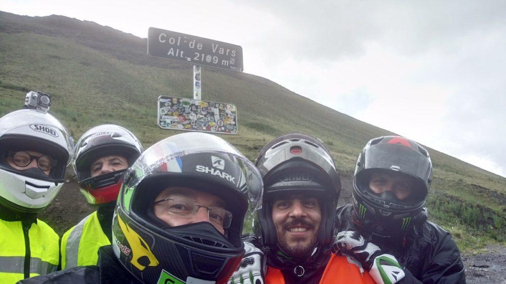 Col de Vars in moto