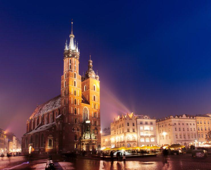 Cracovia inverno basilica