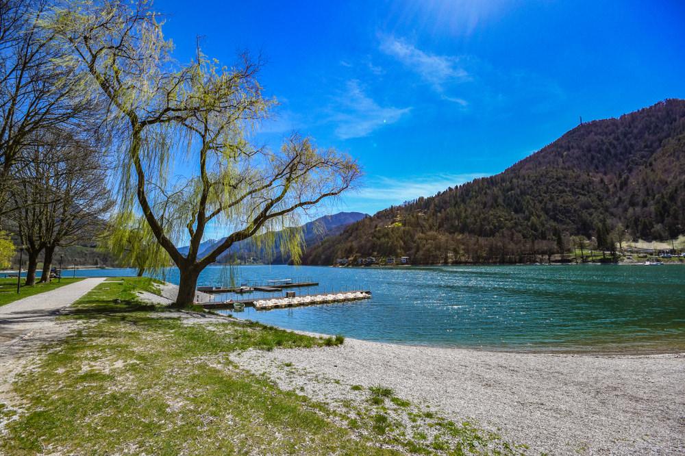 Lago di Ledro spiagge