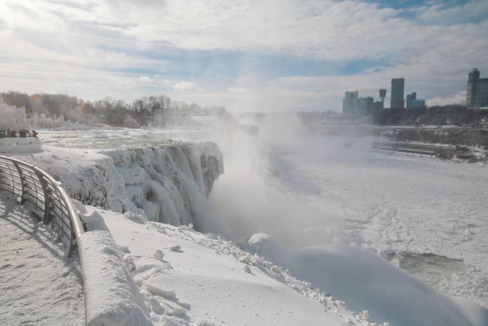 Cascate del Niagara inverno