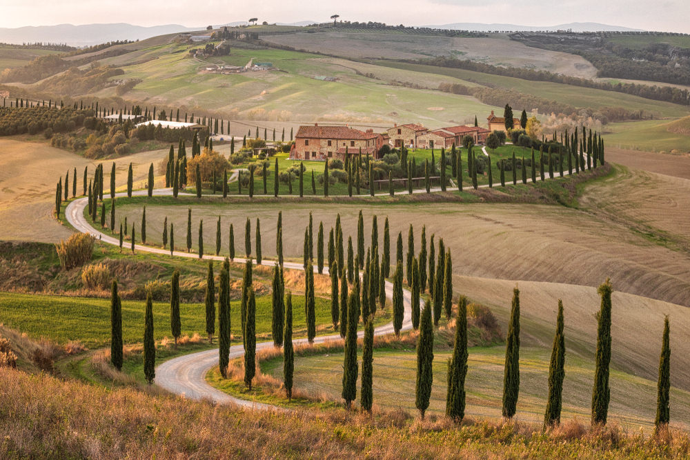 Val d'Orcia panorama curve
