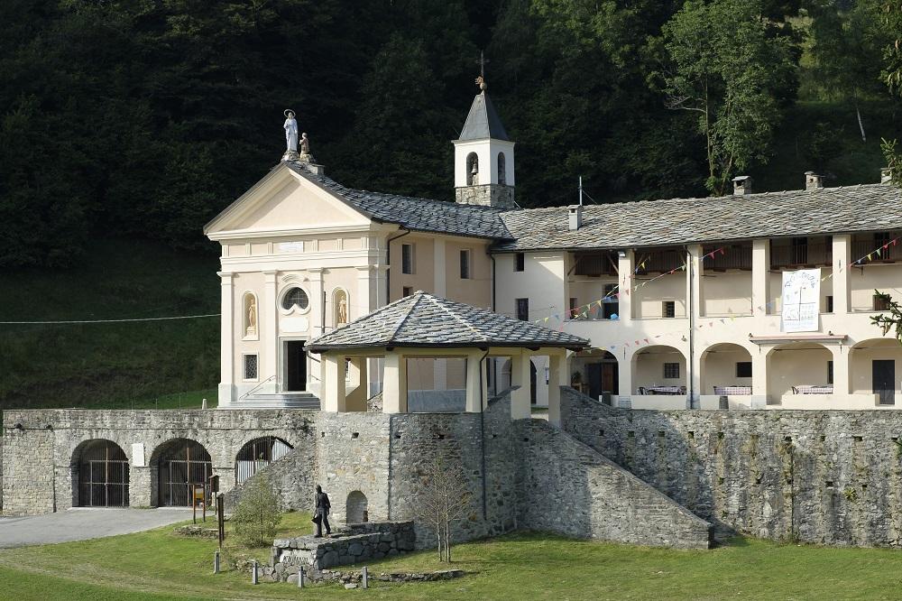 Santuario di Prascondù, dettaglio chiesa